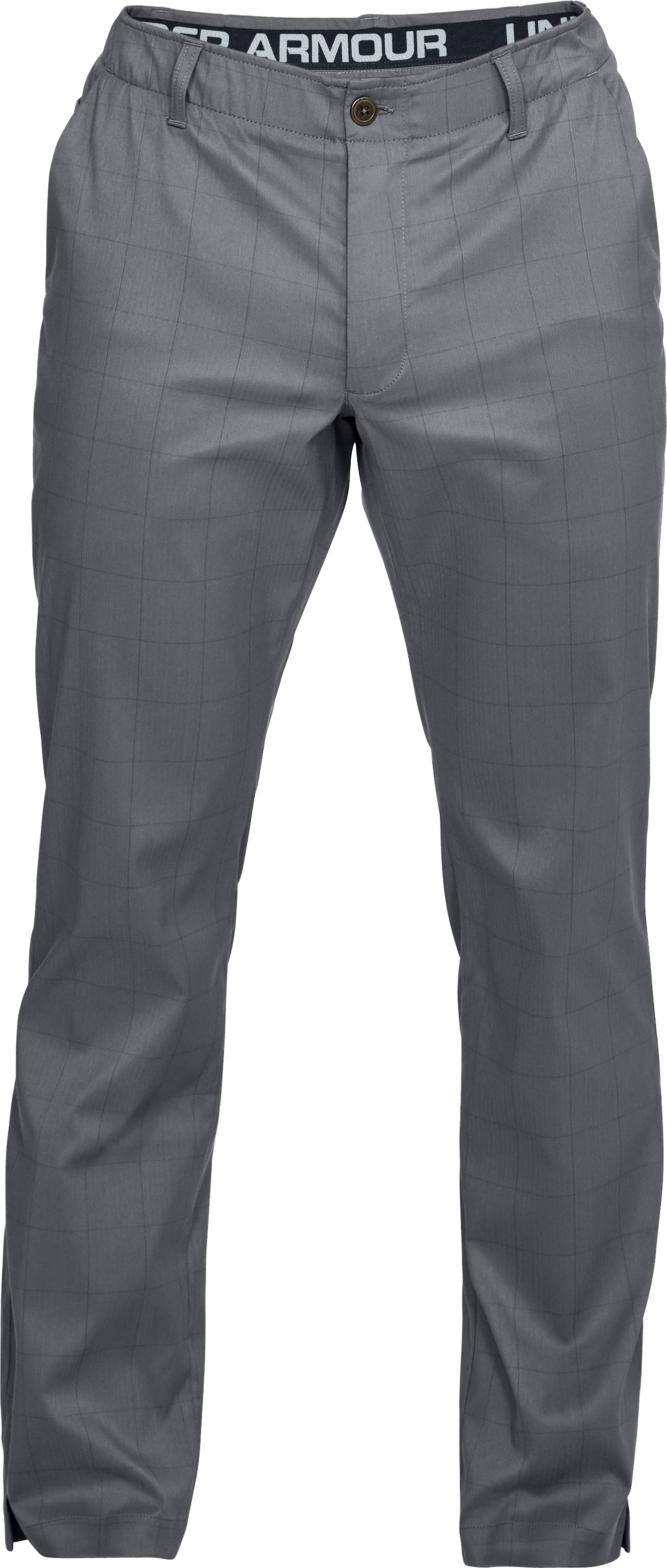 Men's UA Showdown Pattern Pants, RHINO GRAY,