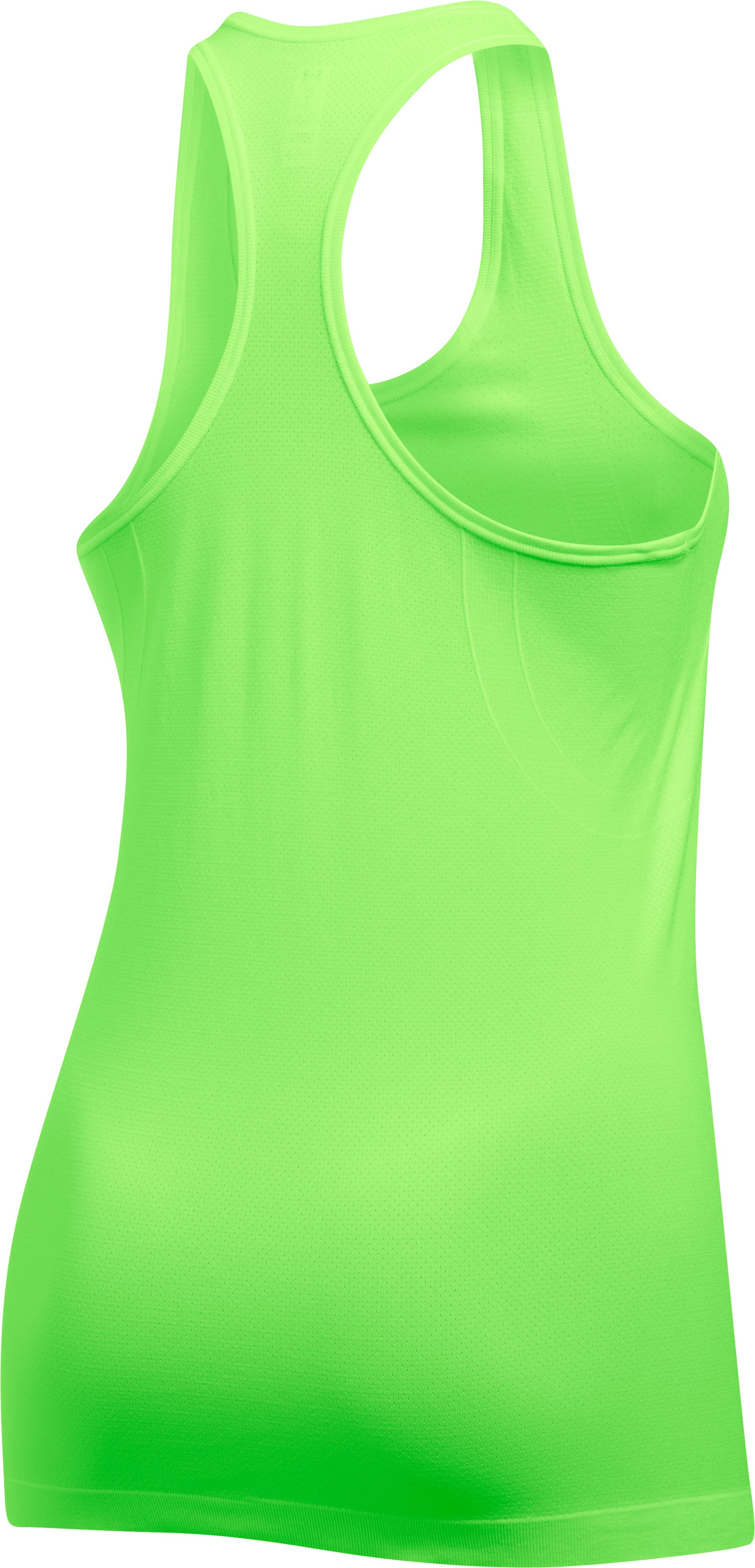 Women's UA Threadborne™ Seamless Heathered Racer Tank, QUIRKY LIME, undefined