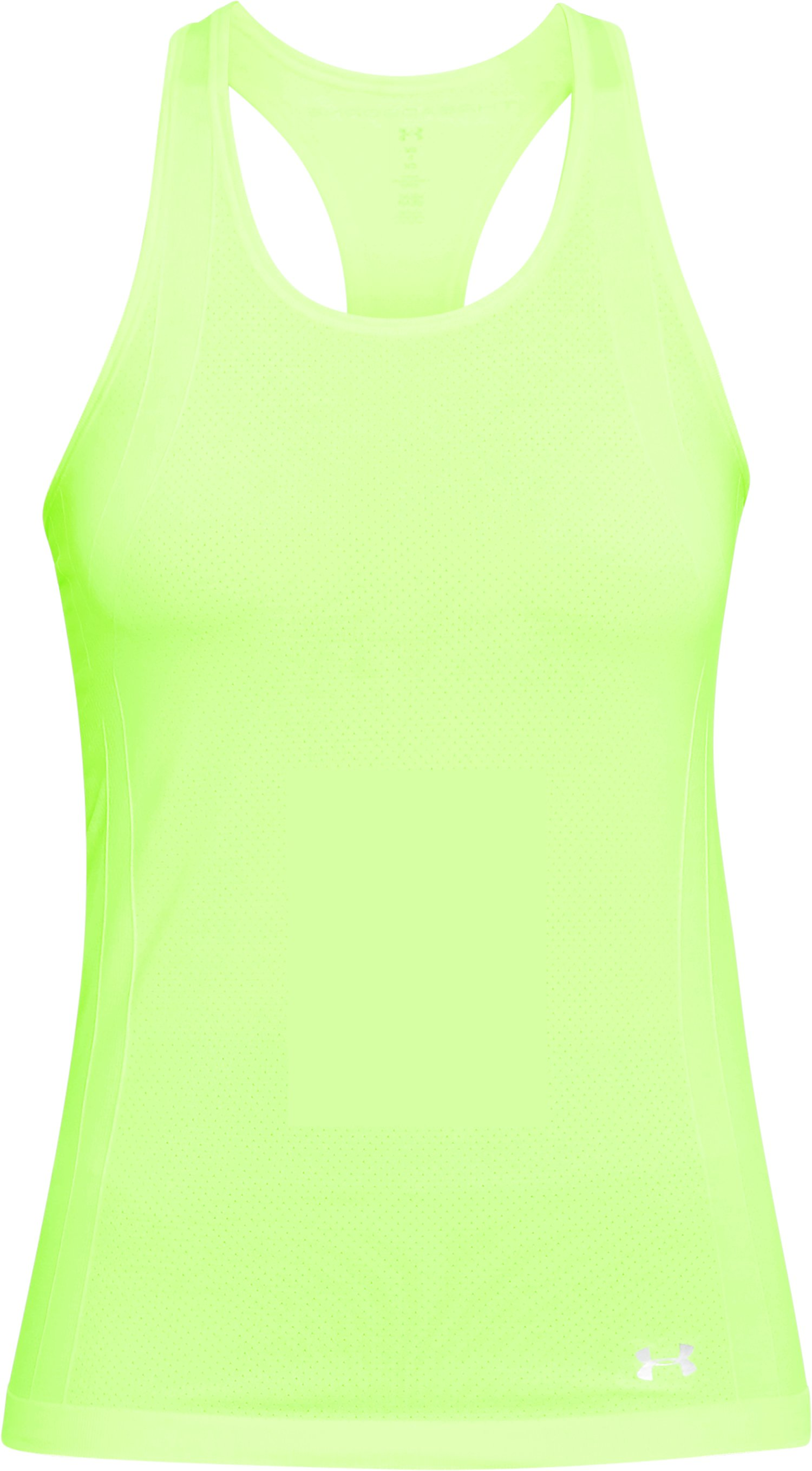 Women's UA Threadborne™ Seamless Heathered Racer Tank, QUIRKY LIME,