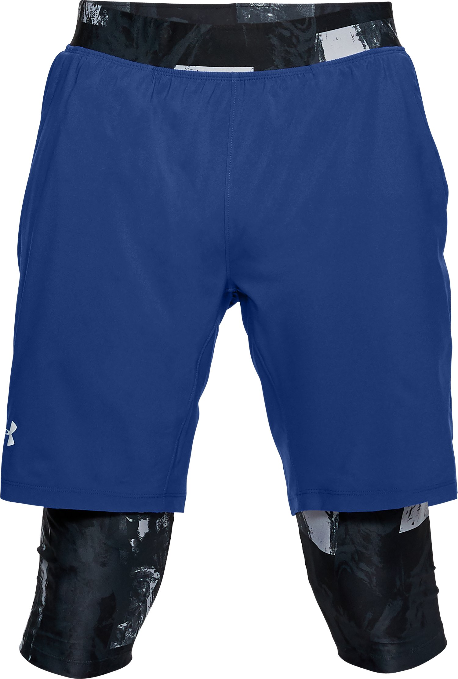 Men's UA Launch 2-in1 Long Shorts, FORMATION BLUE,