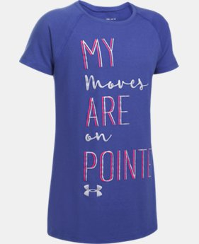 Girls' UA Moves On Pointe T-Shirt  1 Color $19.99