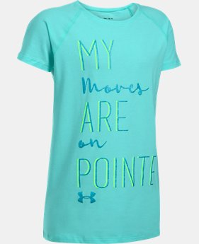 Girls' UA Moves On Pointe T-Shirt  2 Colors $19.99
