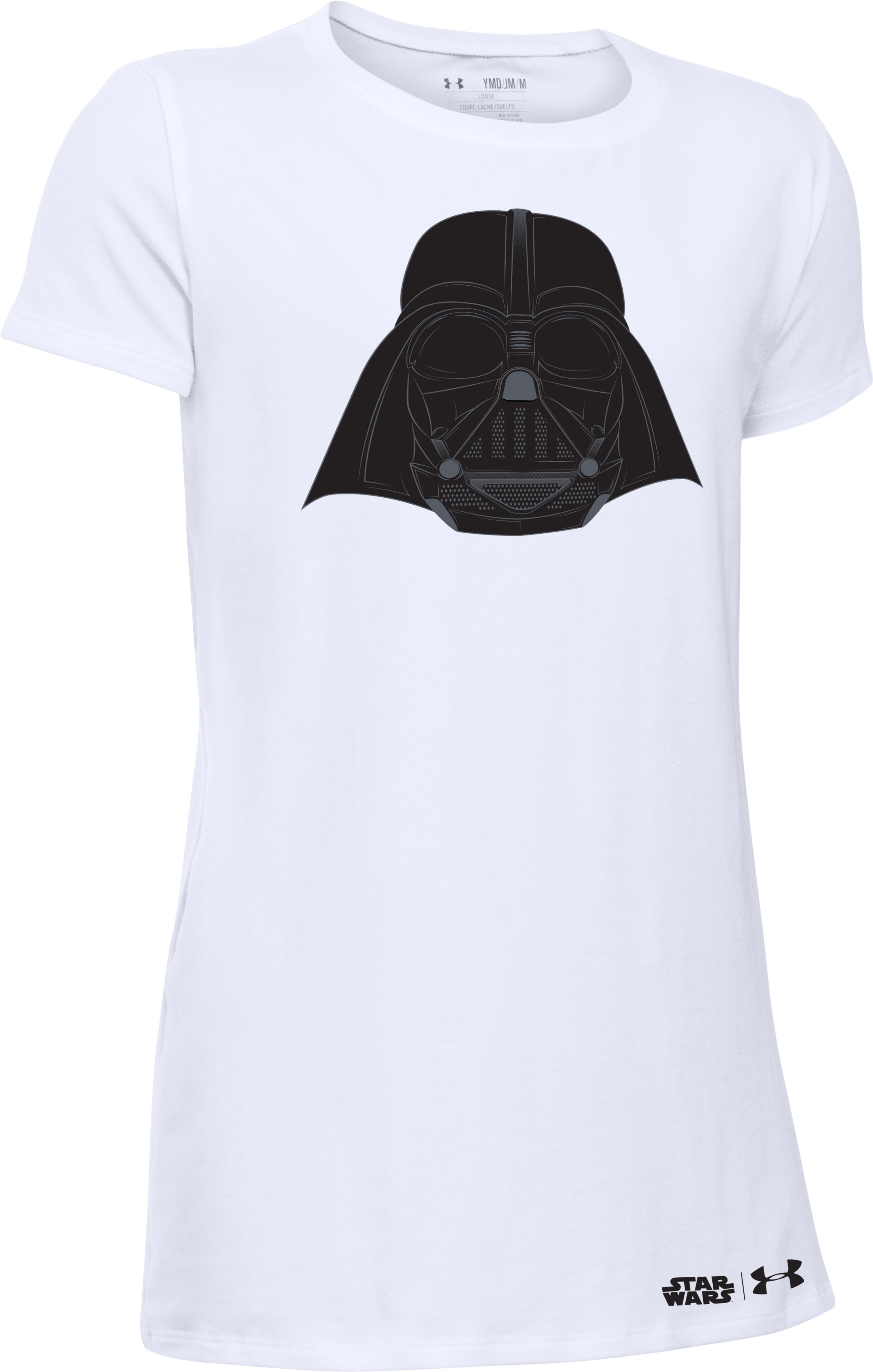 Girls' Star Wars Darth Vader Short Sleeve T-Shirt, White, undefined