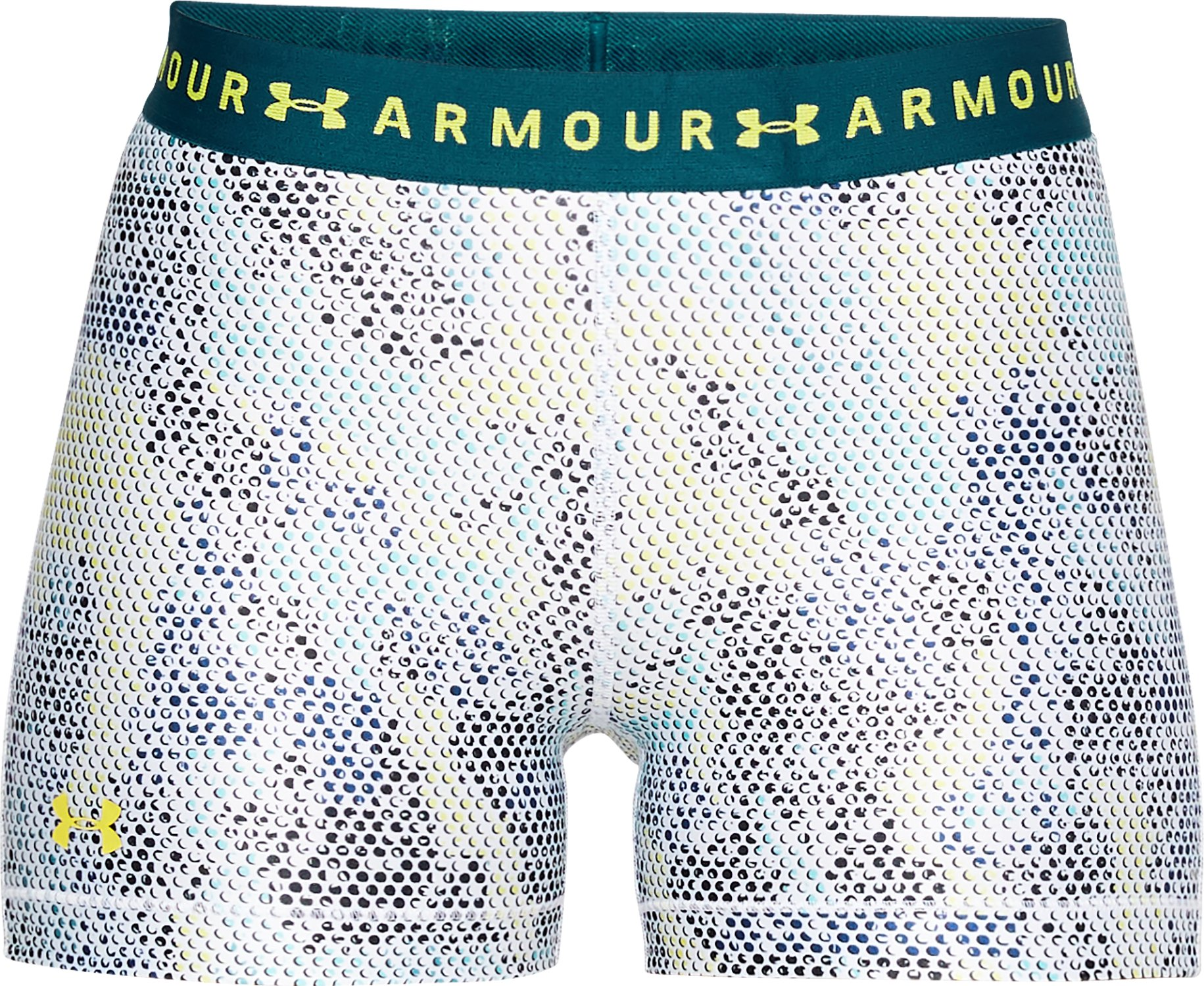 Women's HeatGear® Armour Printed Shorty, TOURMALINE TEAL,