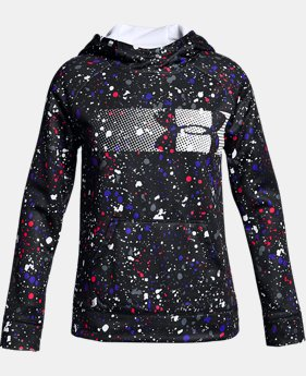 Girls' UA Armour® Fleece Highlight Hoodie LIMITED TIME OFFER 1 Color $29.99