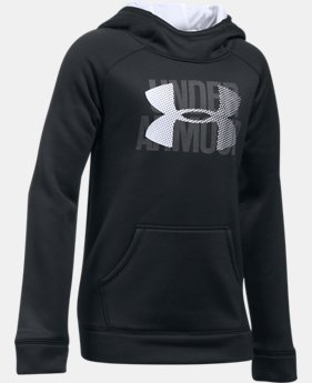 Girls' UA Armour® Fleece Big Logo Hoodie LIMITED TIME OFFER 4 Colors $33.99