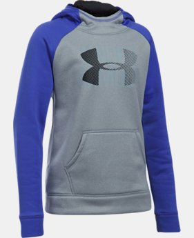 Girls' UA Armour® Fleece Big Logo Hoodie LIMITED TIME OFFER 10 Colors $29.99