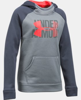 Girls' Armour Fleece® Big Logo Hoodie  3  Colors Available $26.99 to $33.99