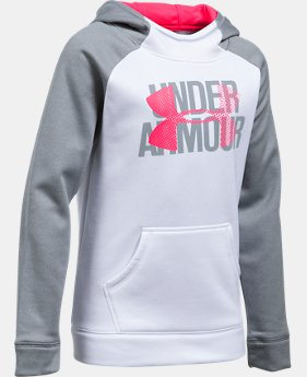 New to Outlet Girls' UA Armour® Fleece Big Logo Hoodie LIMITED TIME OFFER 1 Color $29.99