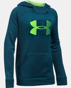 Girls' UA Armour® Fleece Big Logo Hoodie   $49.99