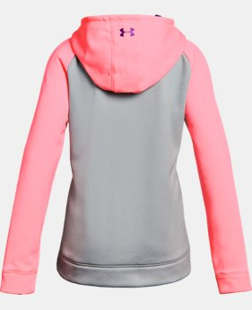 Girls' UA Armour® Fleece Big Logo Hoodie 40% OFF: CYBER WEEKEND ONLY 11 Colors $26.99