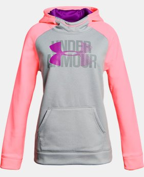Girls' UA Armour® Fleece Big Logo Hoodie LIMITED TIME OFFER 11 Colors $29.99