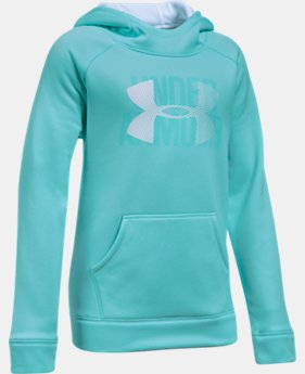 Girls' UA Armour® Fleece Big Logo Hoodie 40% OFF: CYBER WEEKEND ONLY 2 Colors $29.99