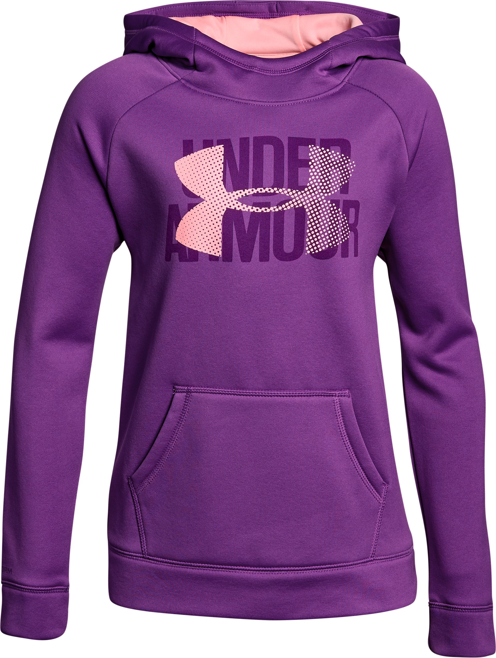 Girls' Armour Fleece® Big Logo Hoodie, PURPLE RAVE,