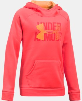 Girls' UA Armour® Fleece Big Logo Hoodie LIMITED TIME OFFER 1 Color $33.32