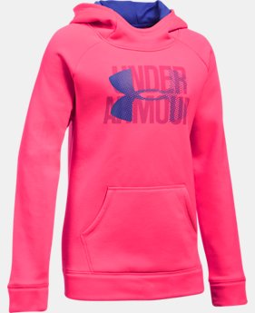 Girls' UA Armour® Fleece Big Logo Hoodie  7 Colors $44.99