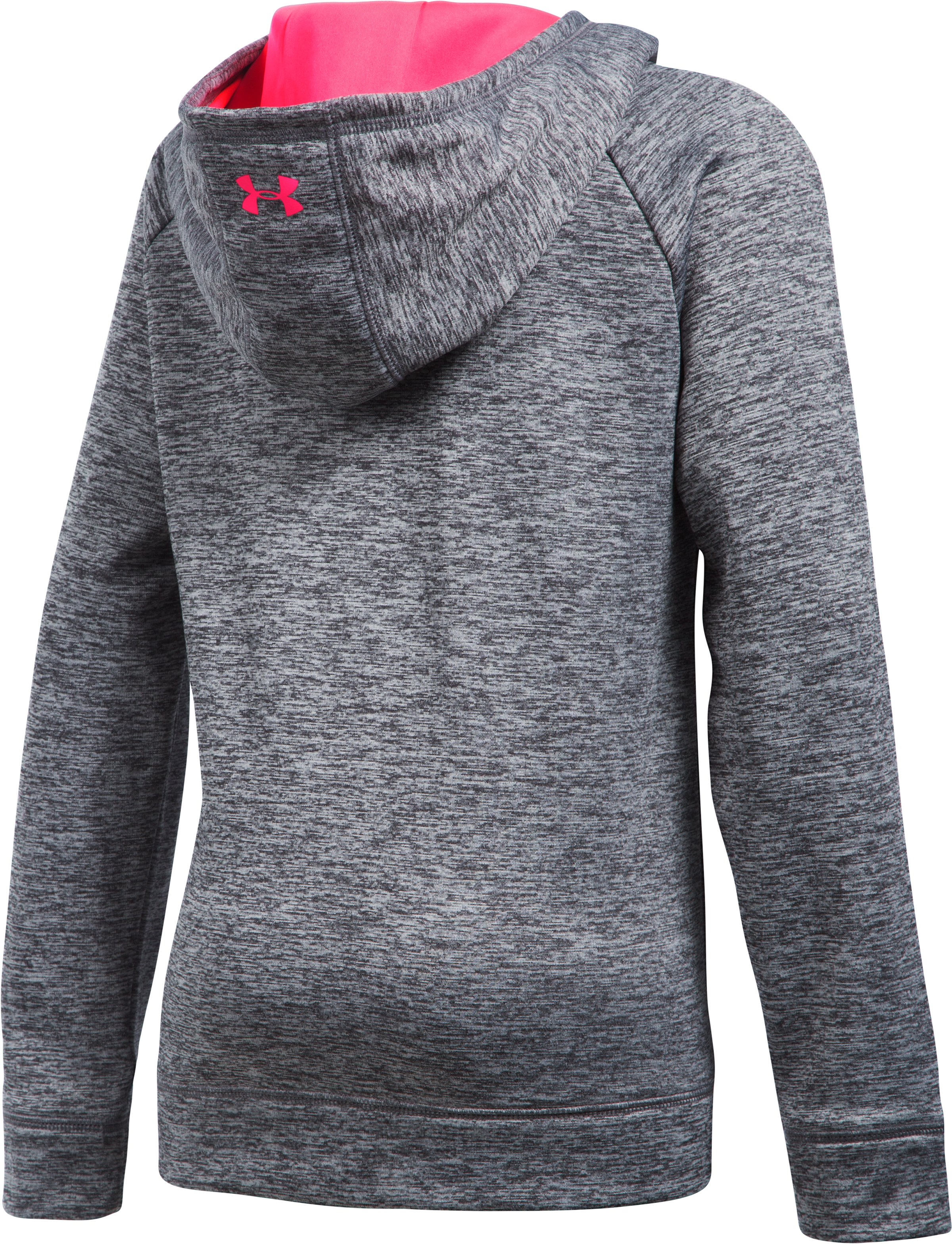 Girls' UA Armour® Fleece Big Logo Printed Hoodie, Black