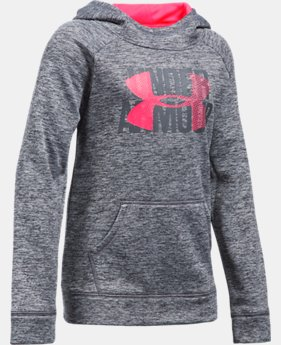 New to Outlet Girls' UA Armour® Fleece Big Logo Printed Hoodie LIMITED TIME OFFER 7 Colors $29.99