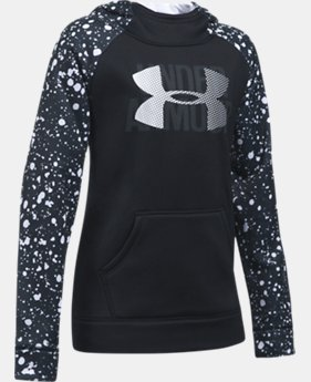 Girls' UA Armour® Fleece Big Logo Printed Hoodie  9 Colors $44.99