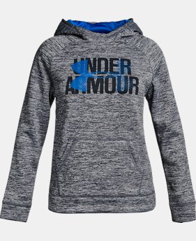 New to Outlet Girls' UA Armour® Fleece Big Logo Printed Hoodie LIMITED TIME OFFER 5 Colors $29.99
