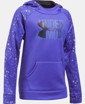 Girls' UA Armour® Fleece Big Logo Printed Hoodie  2 Colors $44.99