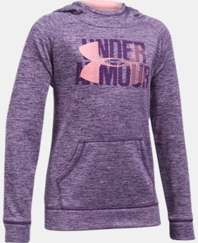 Girls' UA Armour® Fleece Big Logo Printed Hoodie 40% OFF: CYBER WEEKEND ONLY 2 Colors $26.99