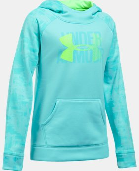 Girls' UA Armour® Fleece Big Logo Printed Hoodie LIMITED TIME OFFER 3 Colors $29.99