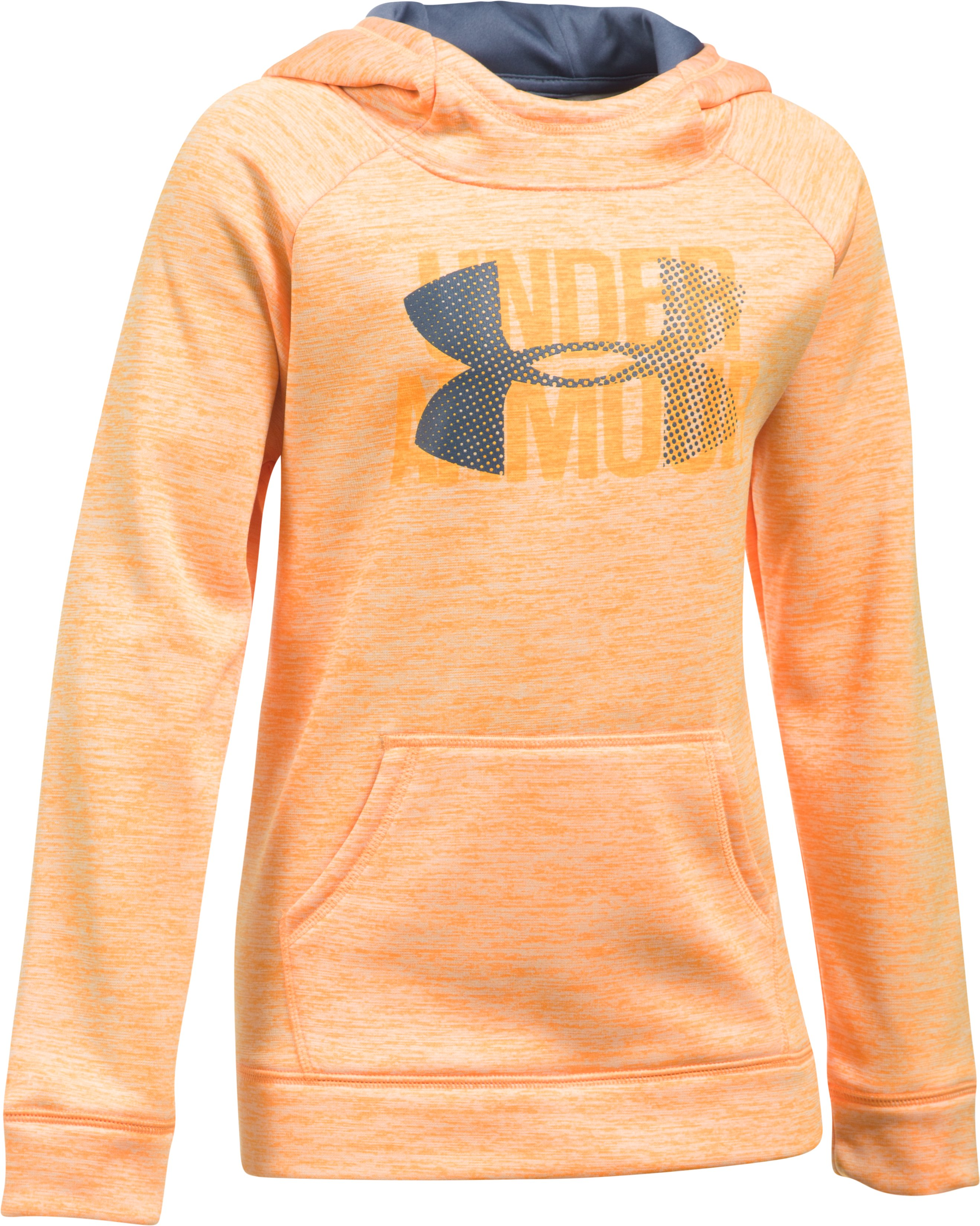 printed hoody Girls' Armour Fleece® Big Logo Printed Hoodie Great Sweatshirt...Great fit!!...Love Underarmour...and pink!
