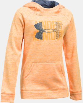 New to Outlet Girls' UA Armour® Fleece Big Logo Printed Hoodie LIMITED TIME OFFER 1 Color $29.99