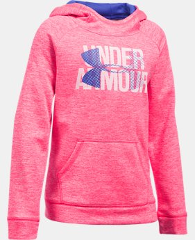 New to Outlet Girls' UA Armour® Fleece Big Logo Printed Hoodie LIMITED TIME OFFER 2 Colors $29.99