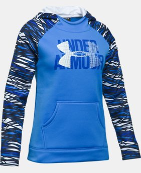 New to Outlet Girls' UA Armour® Fleece Big Logo Printed Hoodie LIMITED TIME OFFER 3 Colors $29.99