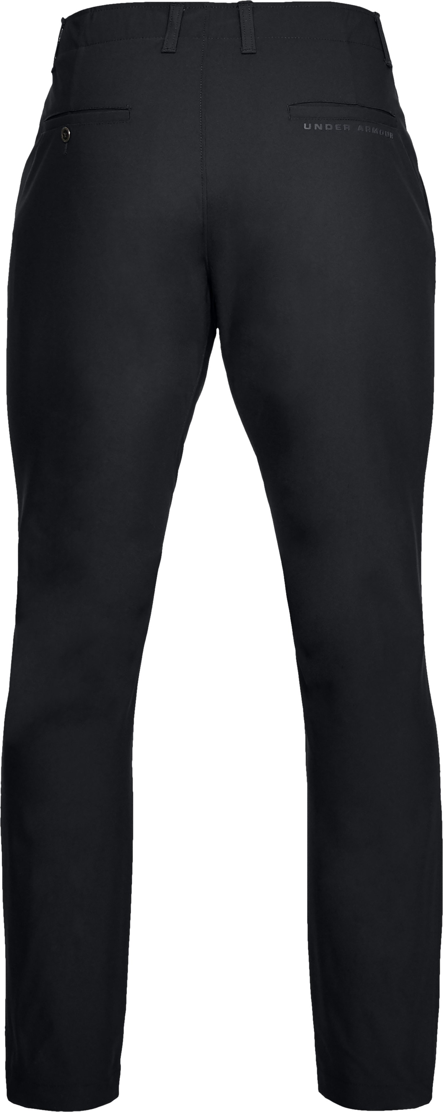 Men's UA Microthread Pants Tapered, Black ,