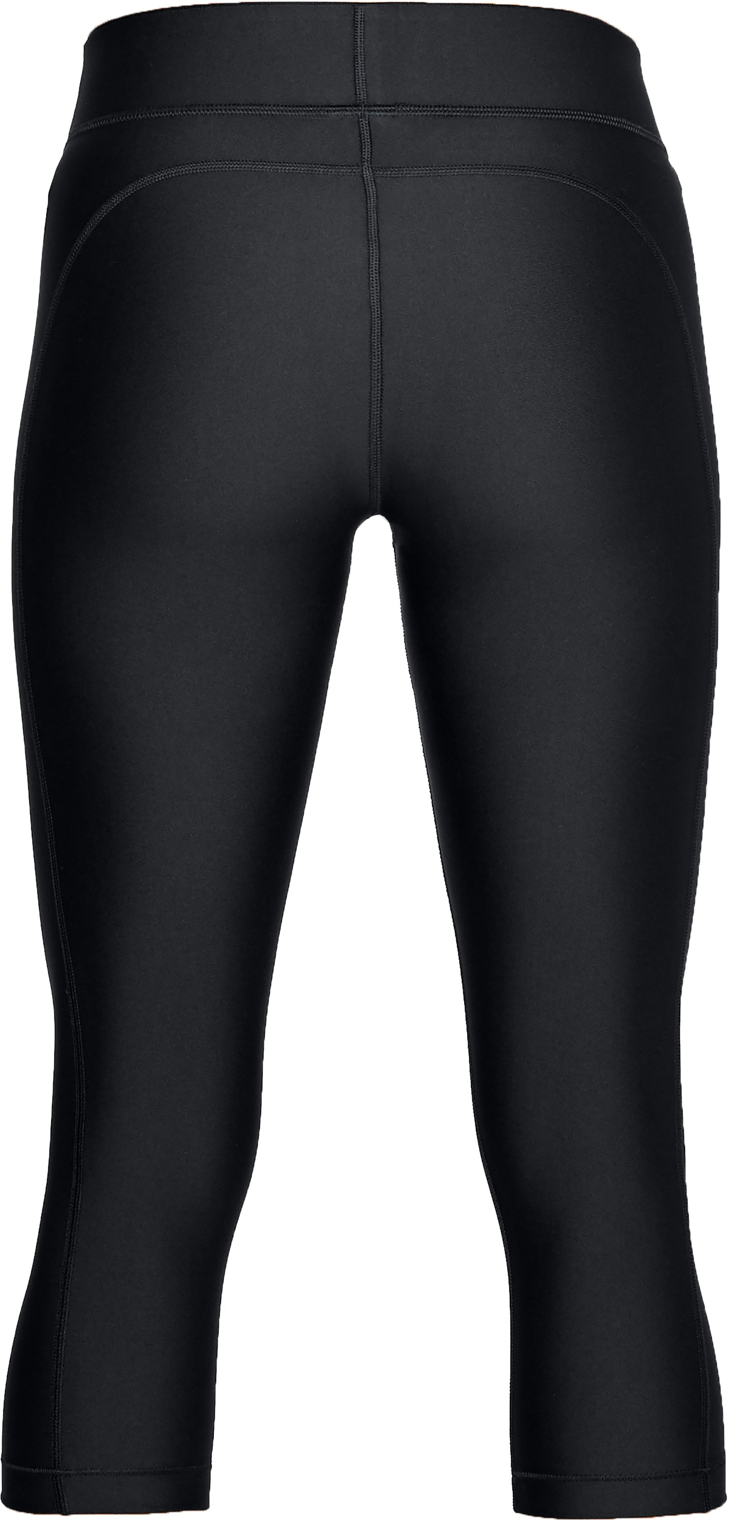 Women's HeatGear® Armour Capris, Black ,