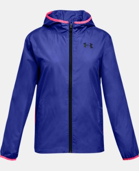 Girls' UA Sackpack Jacket  4  Colors Available $60