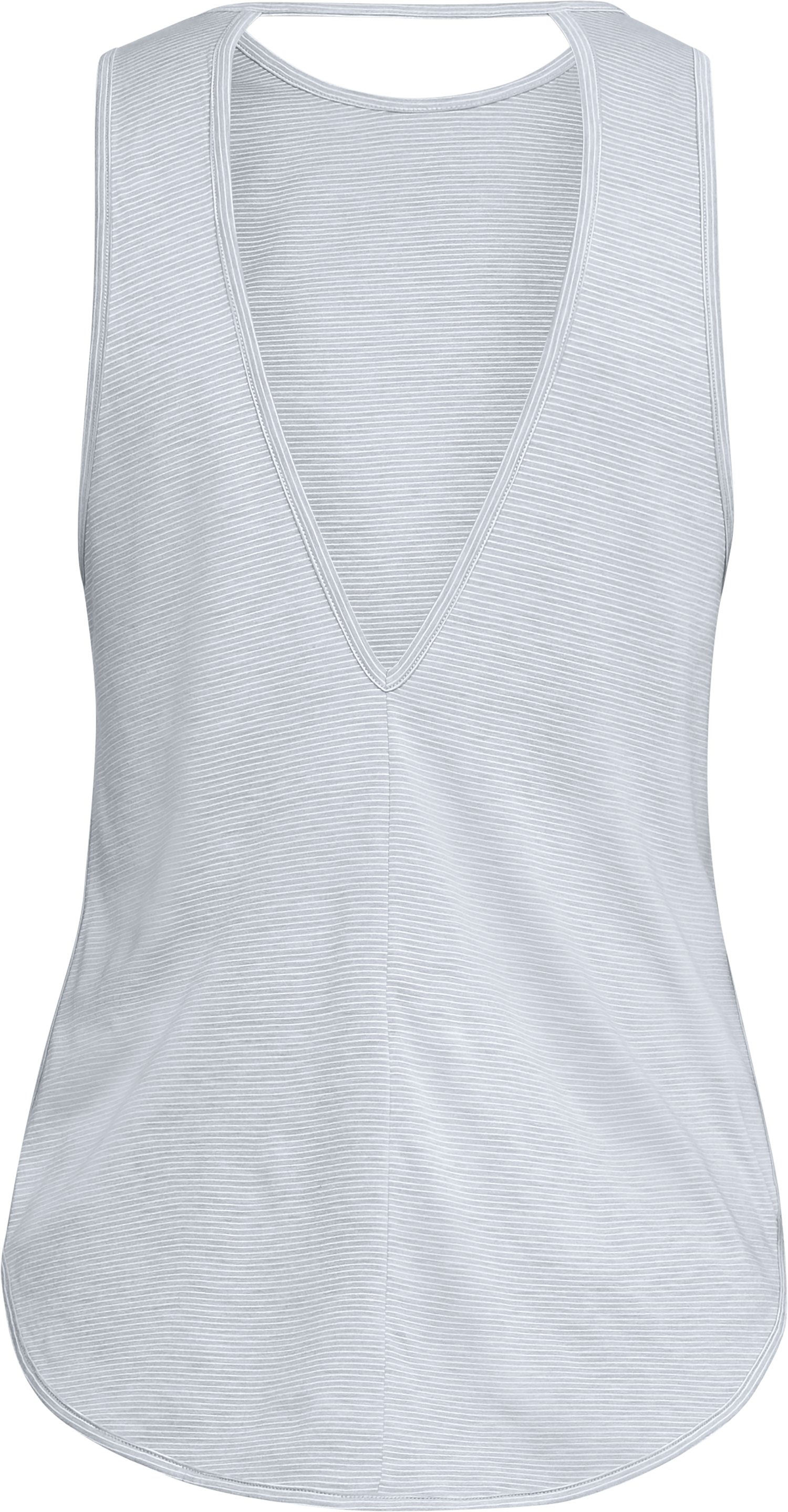 Women's UA Streaker Open Back Tank, STEEL LIGHT HEATHER, undefined