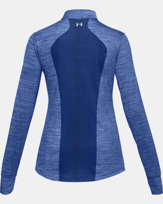 Women's UA Perpetual ½ Zip, Blue, pdpMainDesktop image number 5