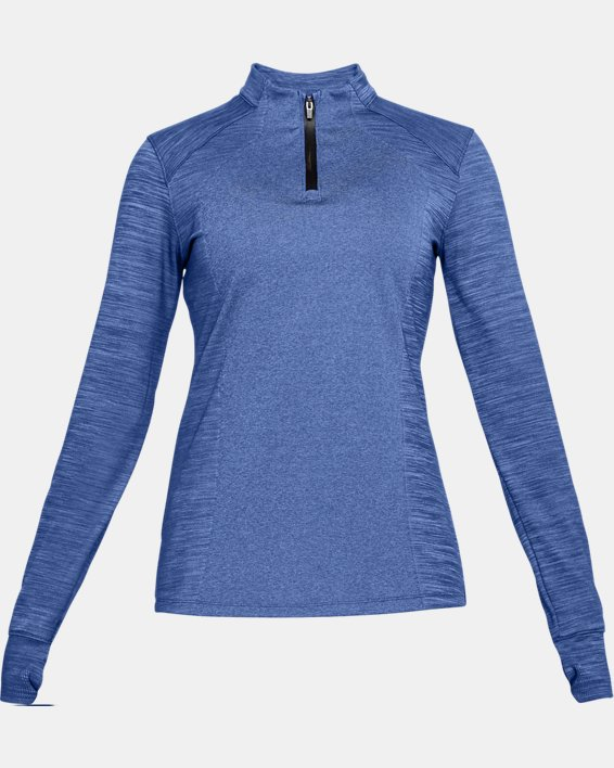 Women's UA Perpetual ½ Zip, Blue, pdpMainDesktop image number 4