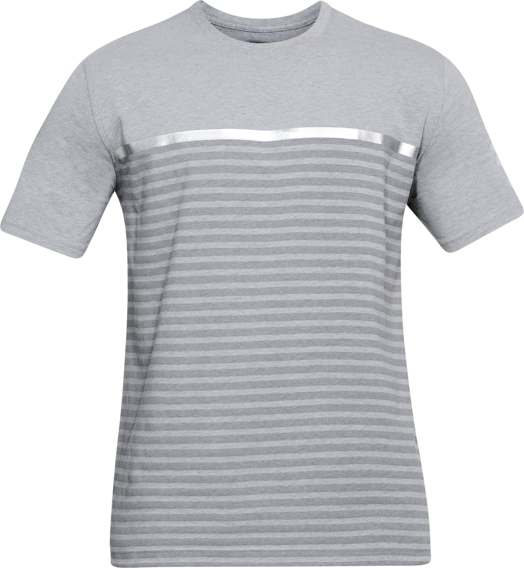 Men's UA USA Stripes T-Shirt, STEEL LIGHT HEATHER, undefined