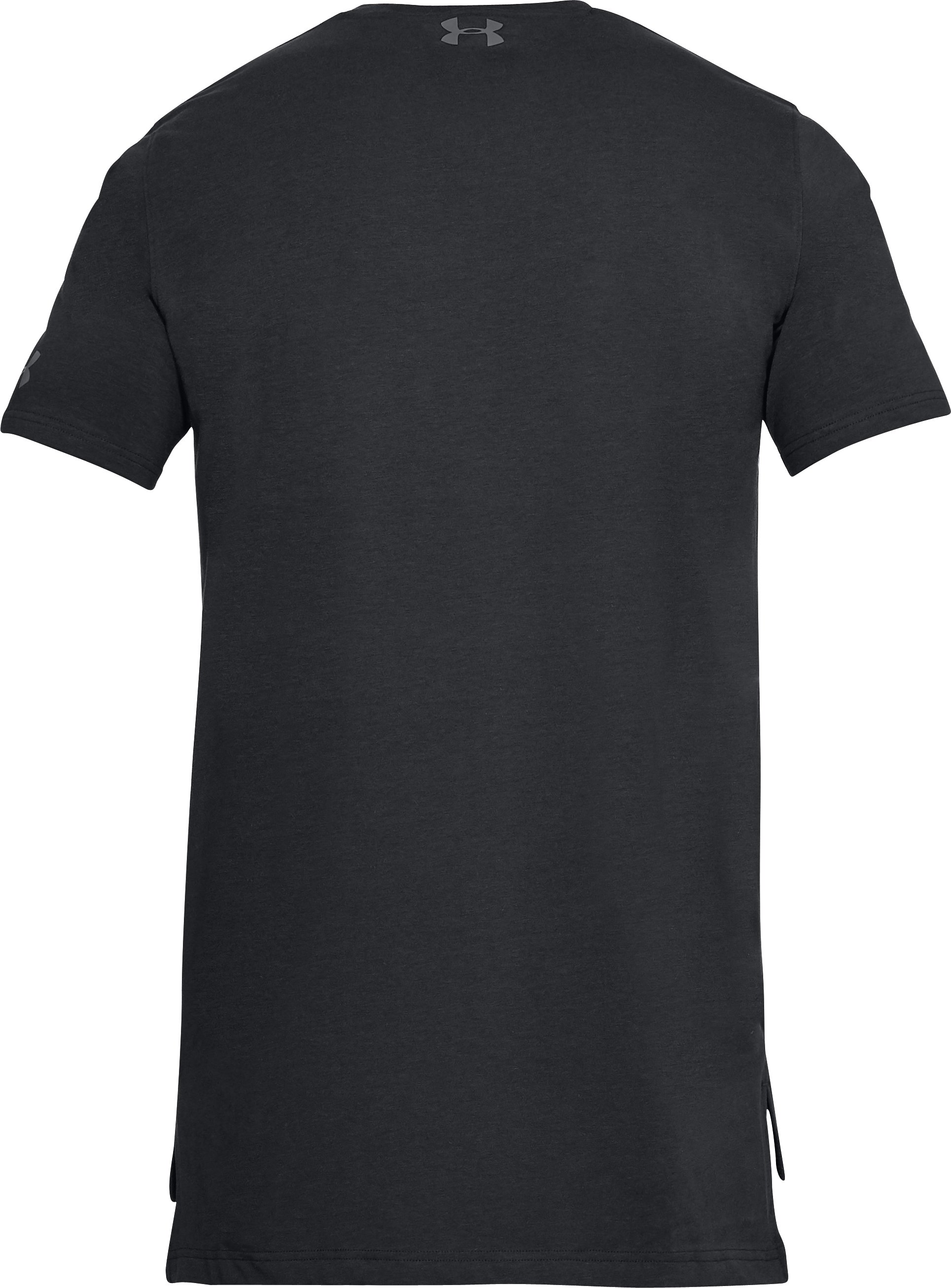 Men's UA Baseline Long Line T-Shirt, Black ,