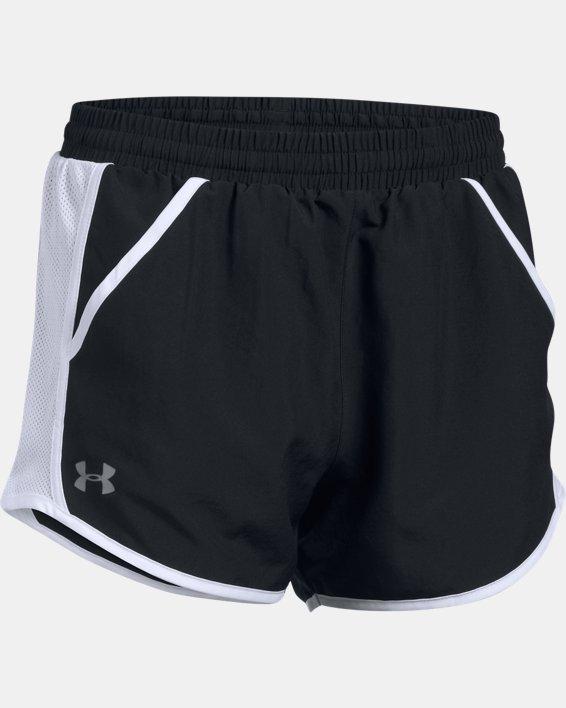 Women's UA Fly-By Shorts, Black, pdpMainDesktop image number 3