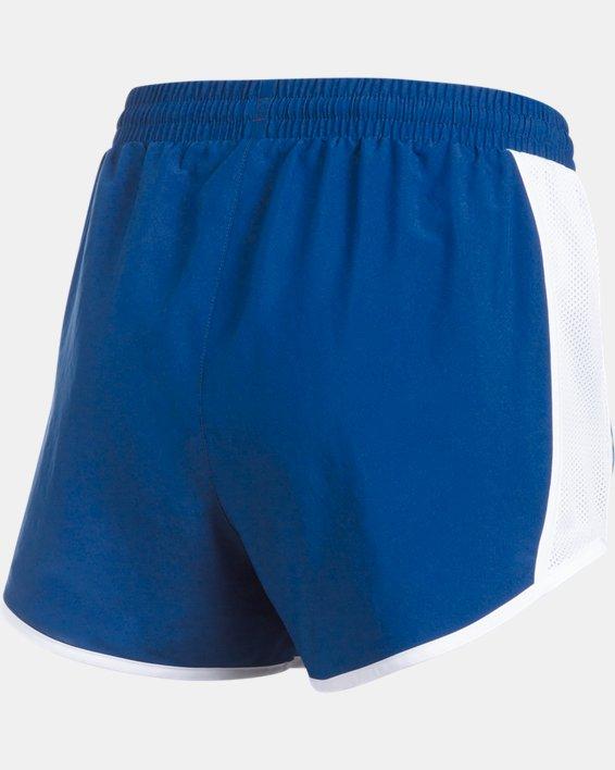 Women's UA Fly-By Shorts, Blue, pdpMainDesktop image number 6