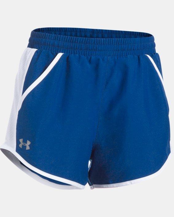 Women's UA Fly-By Shorts, Blue, pdpMainDesktop image number 5