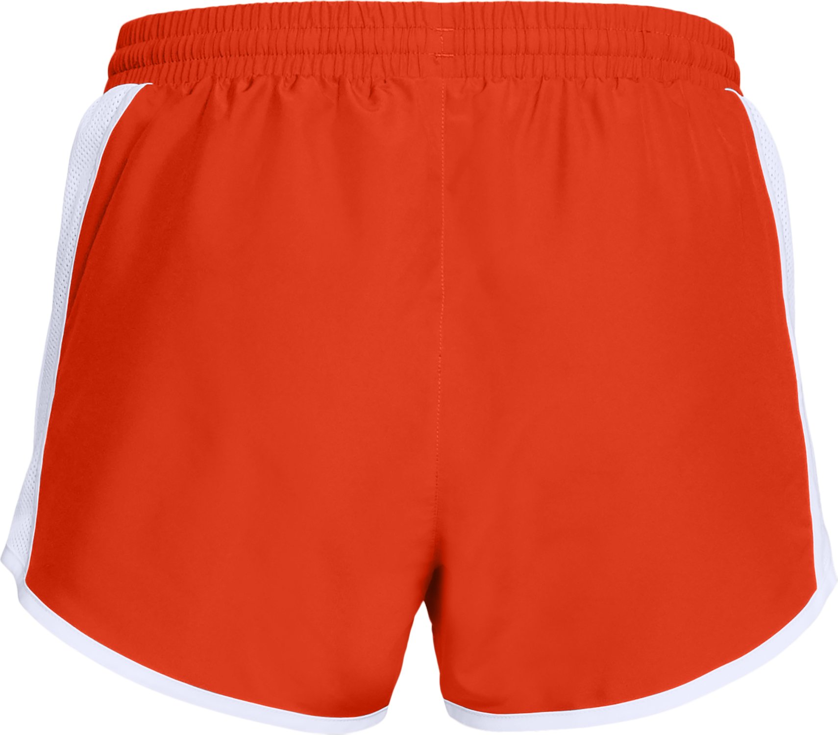 Women's UA Fly-By Team Shorts, Dark Orange,