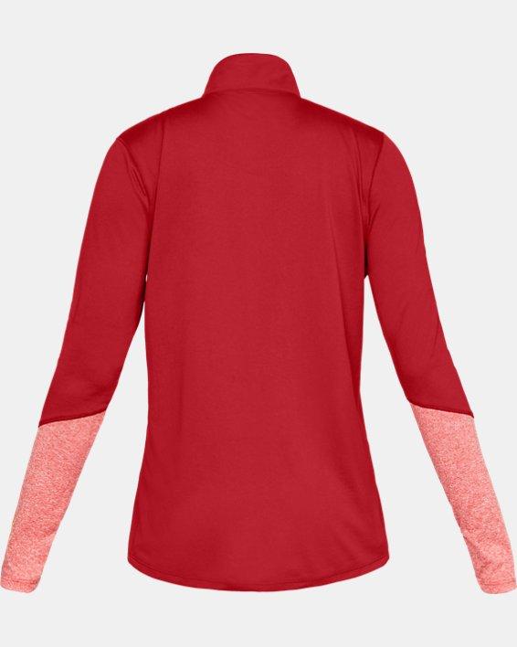 Women's UA Locker ½ Zip, Red, pdpMainDesktop image number 5