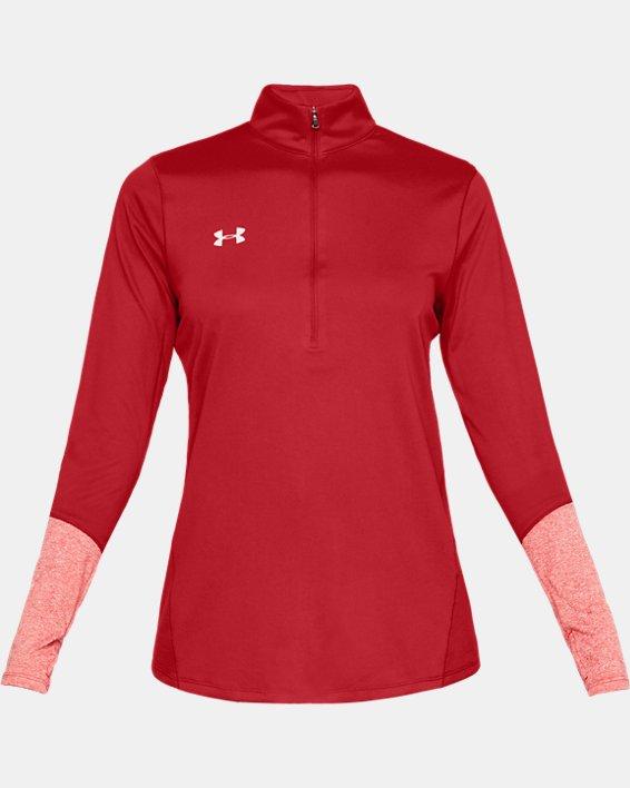 Women's UA Locker ½ Zip, Red, pdpMainDesktop image number 4