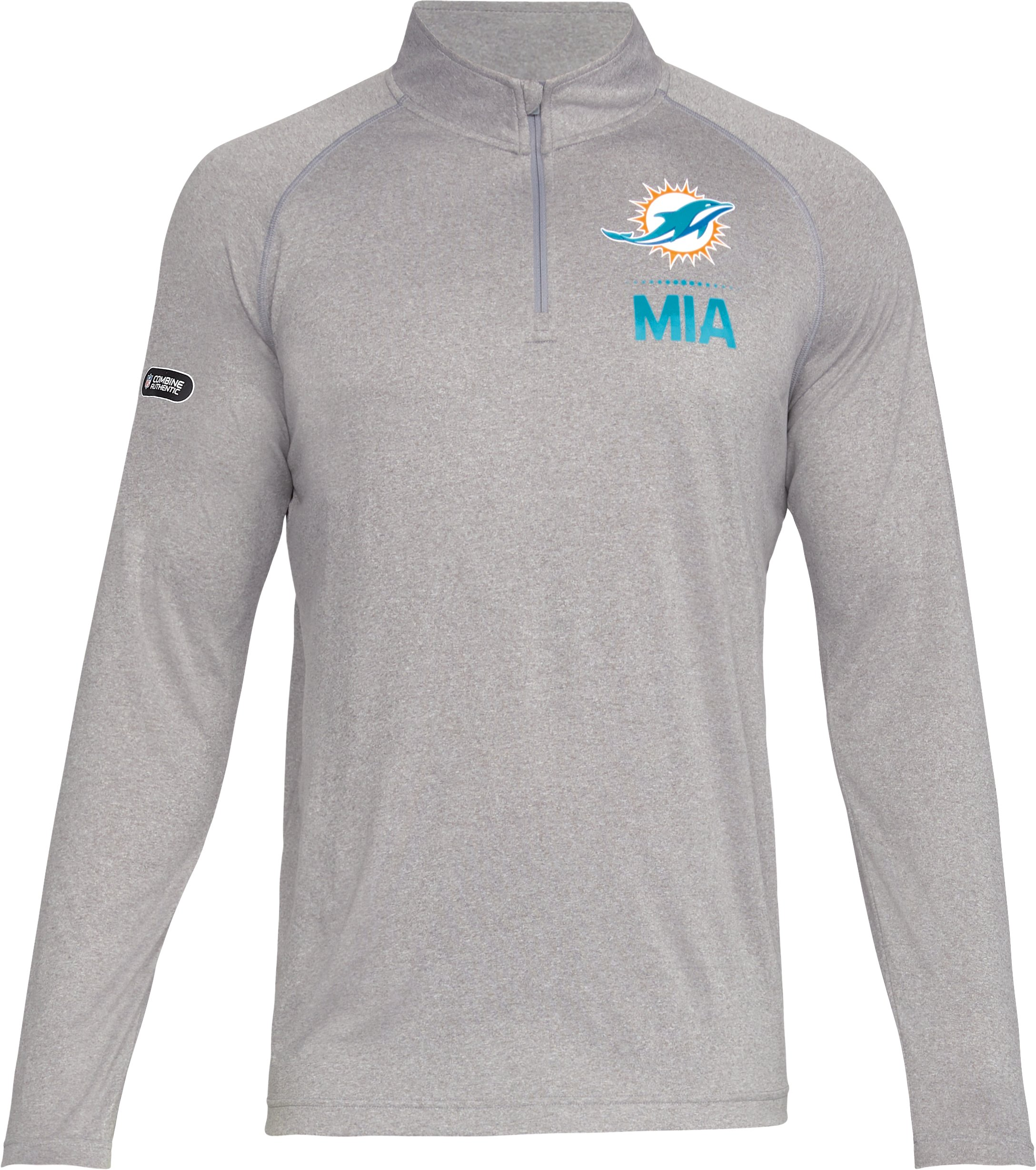 Men's NFL Combine Authentic UA Tech™ ¼ Zip Long Sleeve Shirt, NFL_Miami Dolphins_TGH,