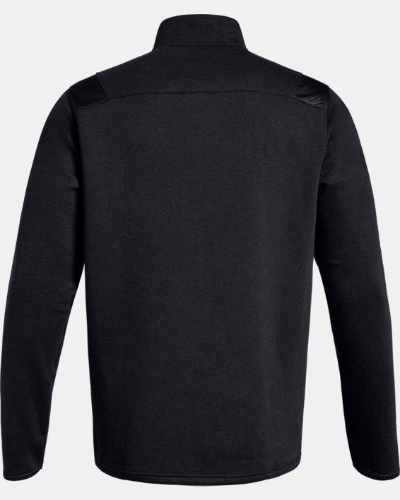 Men's UA Hustle Fleece ¼ Zip, Black, pdpMainDesktop image number 5