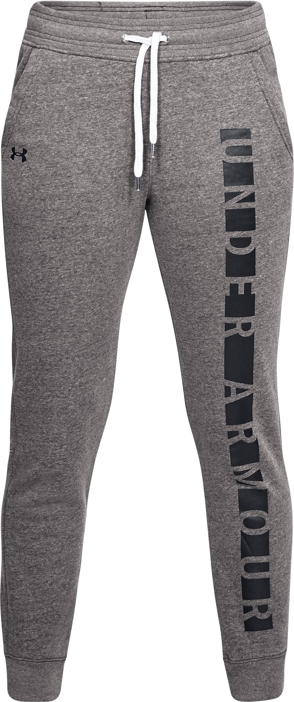Women's UA Favorite Fleece Graphic Pants, CHARCOAL LIGHT HEATHER, undefined