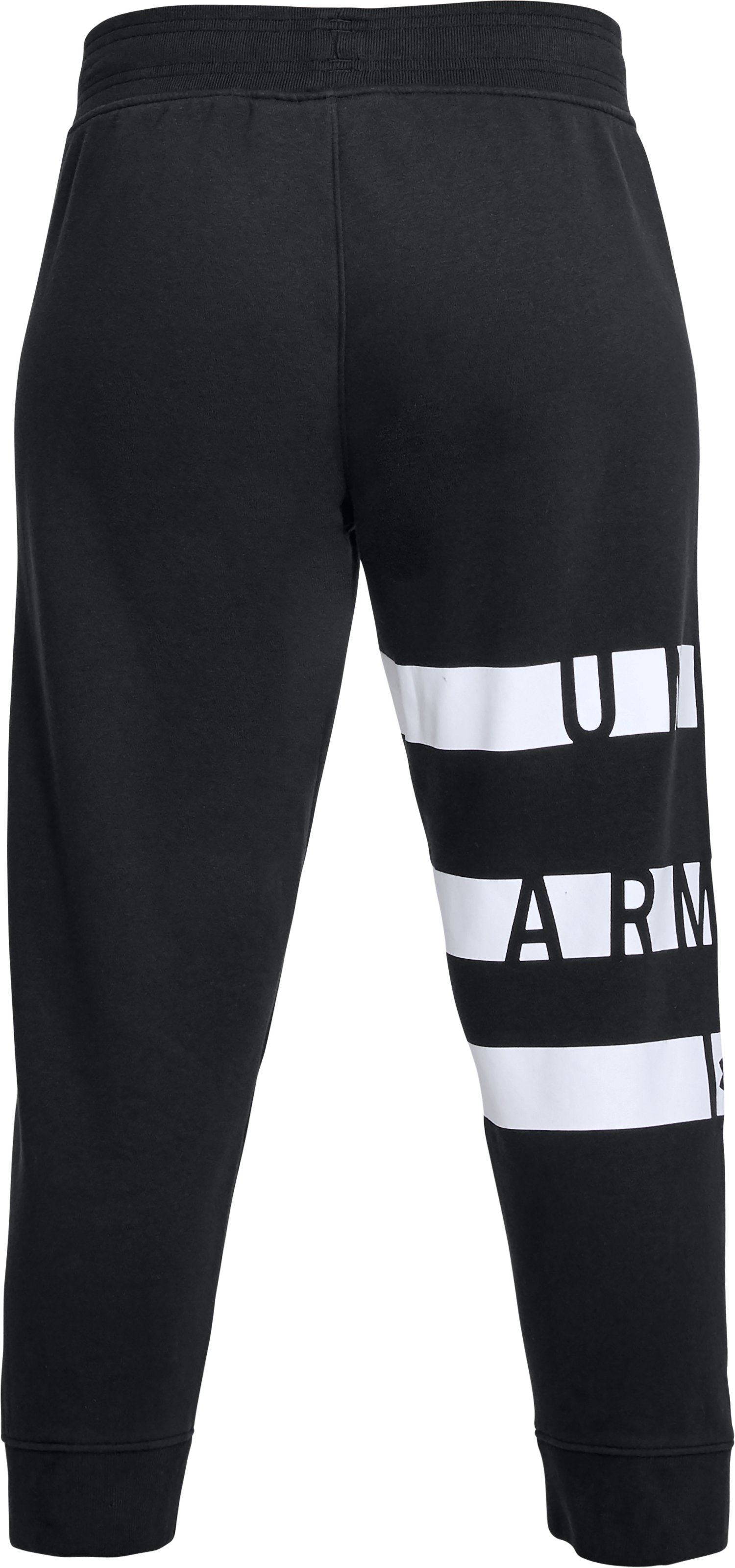 Women's UA Favorite Fleece Graphic Capris, Black ,