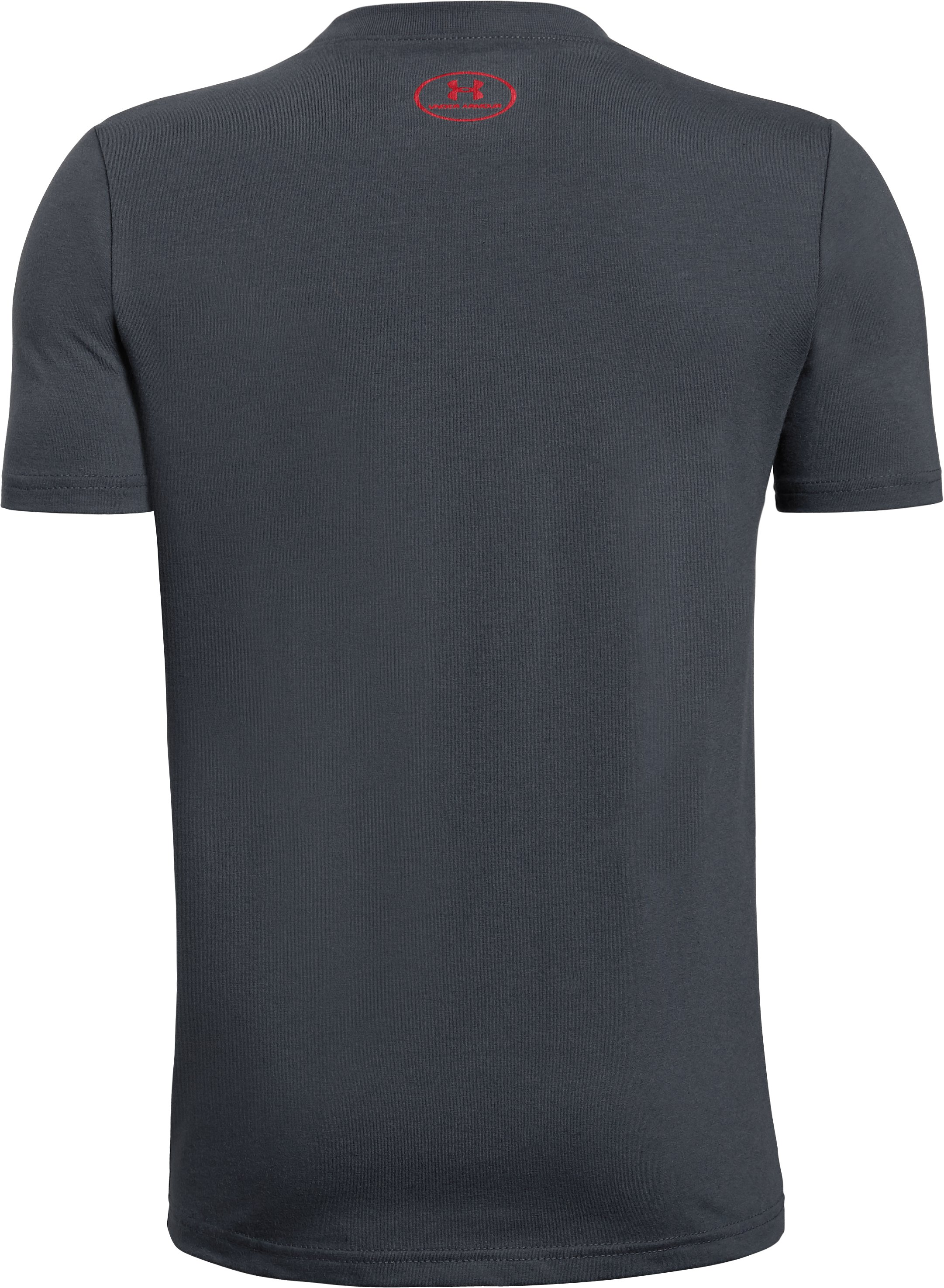 Boys' UA One Sided T-Shirt, STEALTH GRAY,
